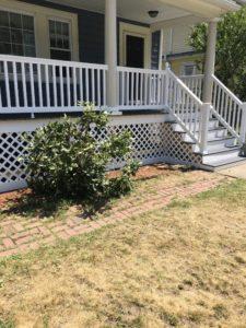 front deck installed